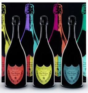 Andy Warhol viste las botellas de la cosecha 2002 de Dom Pérignon, champán legendario.