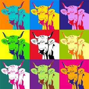 Una original idea regalo: pop art tomando como modelo una vaca.