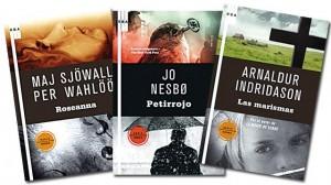 Libros de Wahloo, Nesbo e Indridarson, glaciares casos, oscuridad polar.