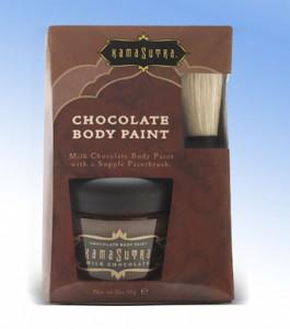 Pintura corporal de chocolate, pintar a nuestra pareja puede ser un juego que puede ser muy divertido...