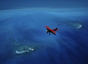 El esperítu de aventura y el románticismo de los fundadores de la revista bien simbolizado en esta foto de 2002. Fuente National Geographic 2002.