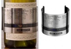 Original y útil termometro para vinos. Un detalle útil, un regalo para os amantes de los buenos néctares. Con moderación siempre.