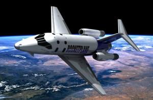 El rocketplane el avión espacial.